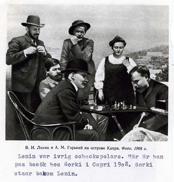 Lenin spelar schack 1908