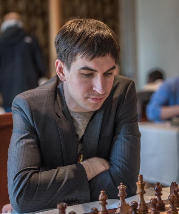 Högst rankade GM Dimitrij Andrejkin, Ryssland vann mot...(Foto: Lars OA Hedlund)