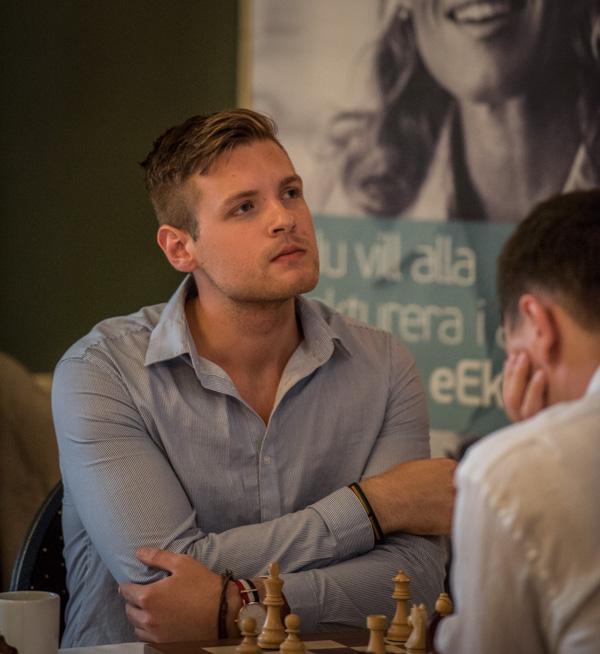 IM Jonathan Westerberg är en av dem spelarna som jagar GM-norm. (Foto: Lars OA Hedlund)