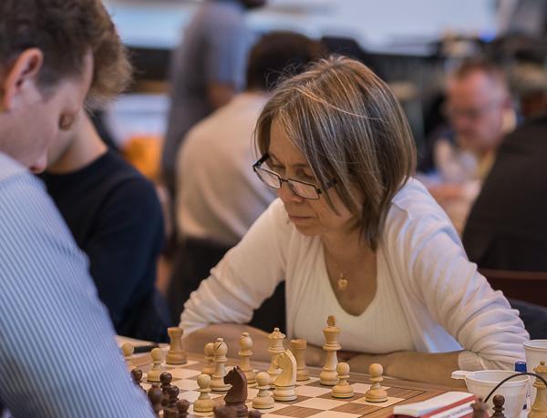 Pia Cramling, Wasa SK, kom femma med 6.5 poäng. (Foto: Lars OA Hedlund)