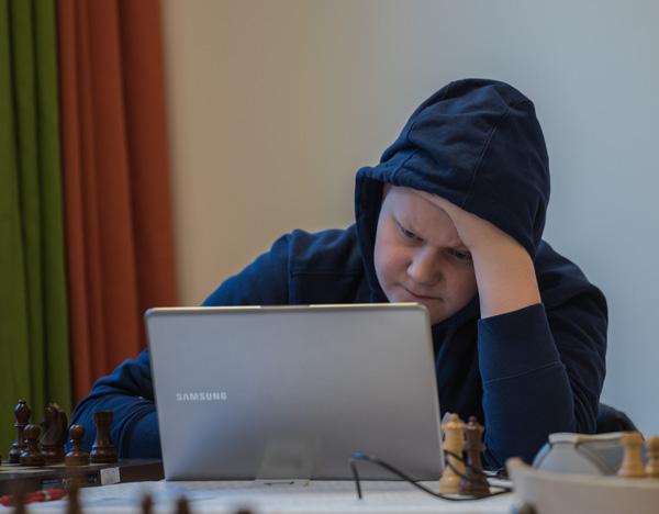 Högst rankad är 14-årige FM Toivo Keinänen, finland med 2345. (Foto: Lars OA Hedlund)