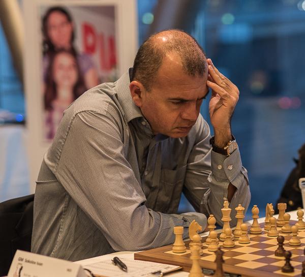 GM Ivan Sokolov vann också den andra ronden. (Foto: Lars OA Hedlund)