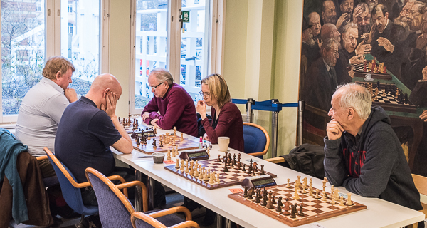Wasa SK med nyförvärven GM Pia Cramling och GM Juan Bellon. (Foto: Lars OA Hedlund)