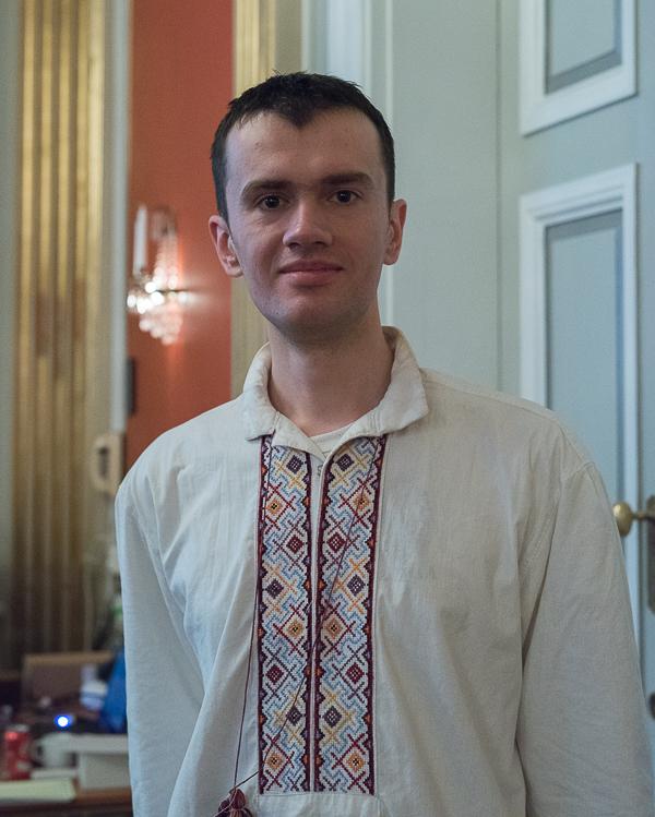 IM Petro Golubka, Ukraina är en av dem tre som delar ledningen med 5.5 poäng. (Foto: Lars OA Hedlund)
