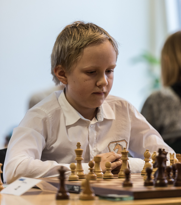 Adrian Söderström vann knatteklassen. (Foto: Lars OA Hedlund)