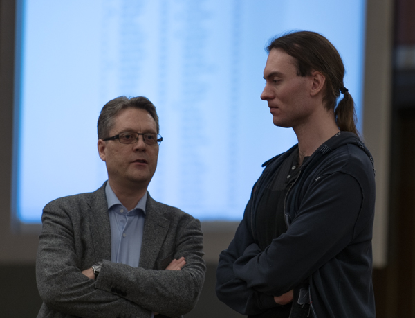 Lars Wållinder och Fredrika Andersson (Foto: Lars OA Hedlund)