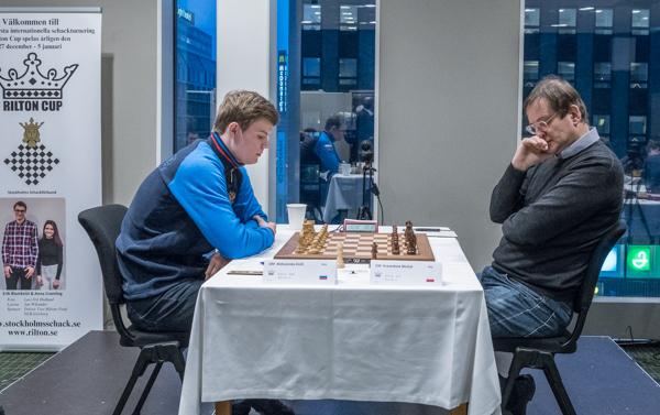 GM Alekseenko Kirill vann toppmötet mot GM Michal Krasenkow. (Foto: Lars OA Hedlund)
