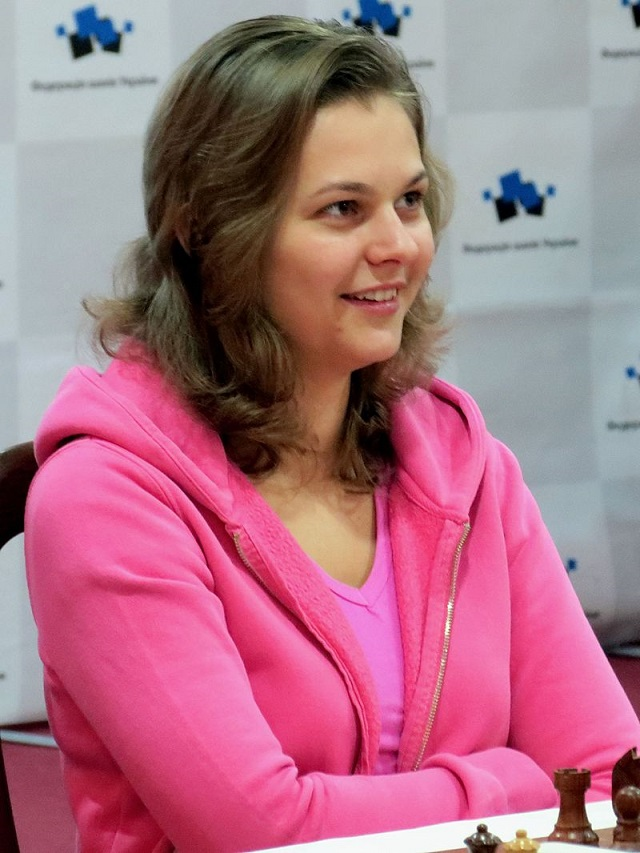 GM Anna Muzychuk är något så ovanligt som dubbel världsmästare i de snabbare formerna i schack. (Foto: Wikimedia 2014)