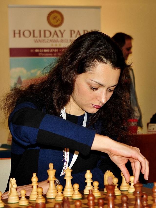 GM Alexandra Kosteniuk, Europamästerskapet för lag i Warszawa 2013 (Källa: Wikimedia)