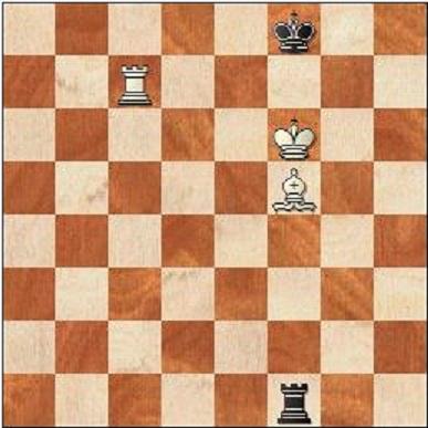 Om svart har tillgång till den långa sidan som i det här fallet sträcker sig från a8-e8 är ställningen remi.