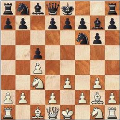 Här hade man väntat sig det mer flexibla 4...Nc6 men Anands drag har sina poänger som vi snart blir varse.