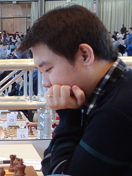 26-årige Li Chao, Kina, ersätter Karjakin i Altibox Norway Chess 2016. (Källa: Wikimedia 2016)