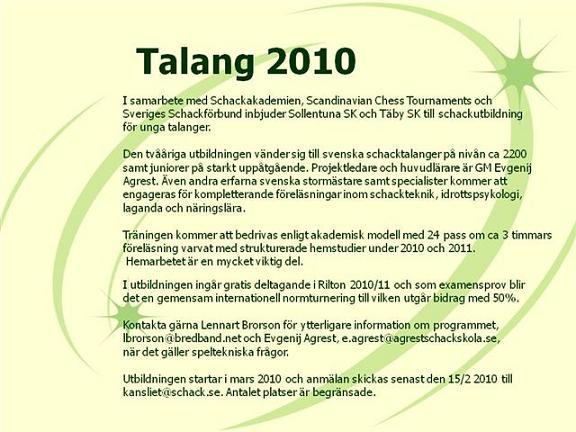 Talang 2010